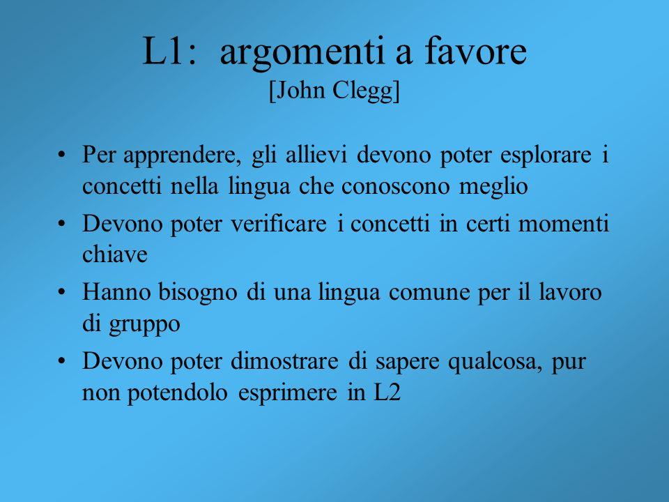 L1: argomenti a favore [John Clegg]